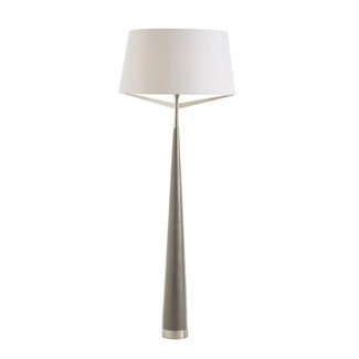 Dove Gray Lacquered Cone Floor Lamp