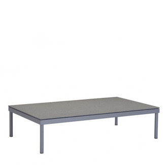 Faux Granite Top Aluminum Coffee Table