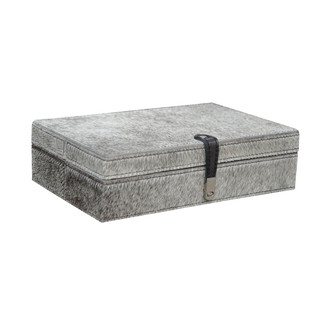 Grey Hairon Leather Box