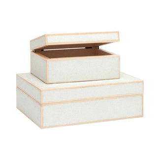 Cooper Faux Shagreen Boxes - Set of 2