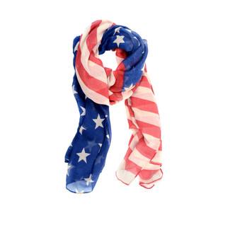 Navy/Red American Flag Scarf