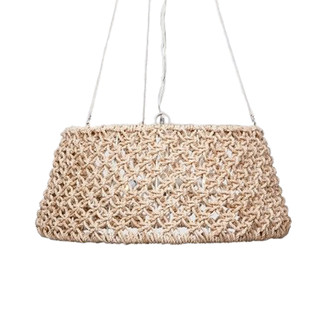 Tully Natural Abaca Rope Chandelier