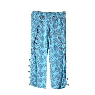 AQUA PINEAPPLE BEACH PANTS