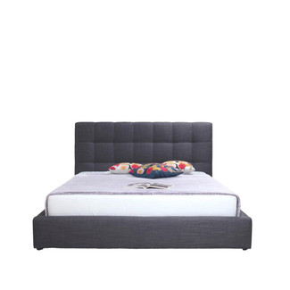 Platform King Bed with Tufted Headboard