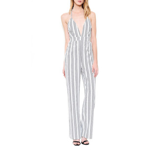 Ivory/Black Stripe Jumpsuit
