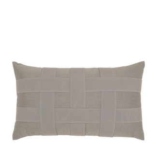 Basketweave Gray Lumbar Accent Pillow