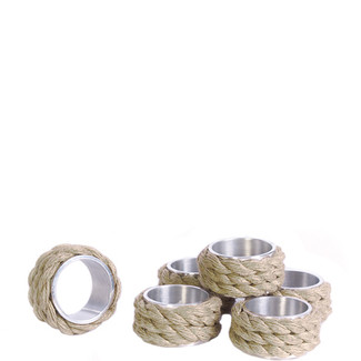 Coastal Napkin Rings- Set of 6