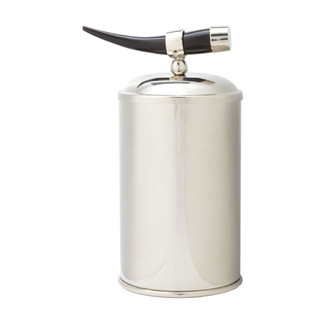 Nickel Ice Bucket with Horn Handle