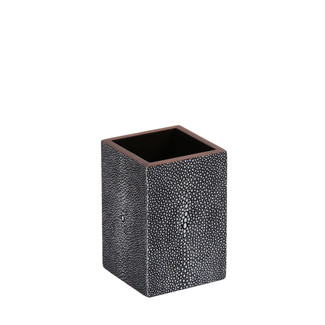 Ash Faux Shagreen Brush Holder