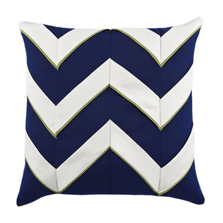 Navy Cruise Chevron Accent Pillow