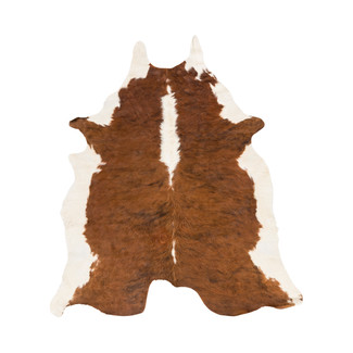 Brown & Cream Cowhide Rug