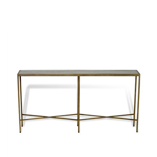 LARGE Antique Brass & Shagreen Console