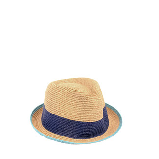 Royal/Oatmeal Straw Fedora