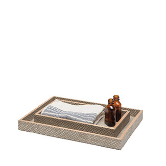 Faux Snake Trays Nested, Set of 2