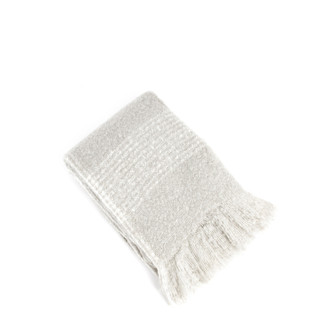 Faux Mohair Throw - Grey