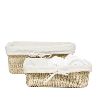 Bleached Nested Baskets, Set of 2