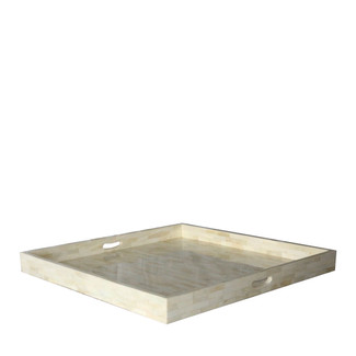 Smooth Bone Inlay Square Tray