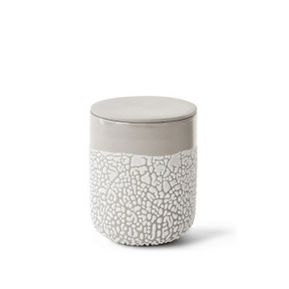 Lichen Ceramic Textured Canister - Medium