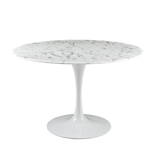 Lippa Round Artificial Marble Dining Table