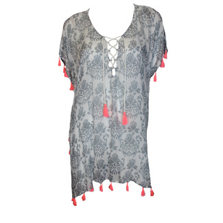 Silver Swirl Lace Cover Up
