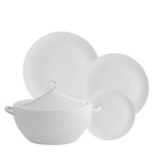 Broadway White 56 Piece Dinner Set