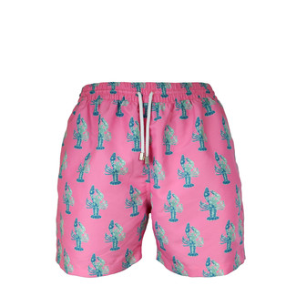 Pink Lobster Swim Trunk - Classic Fit