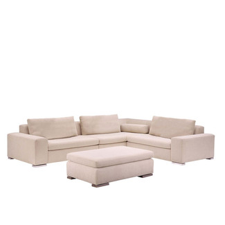 Pearl 3-Piece Sectional with Ottoman