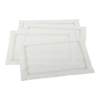 Ivory Embroidered Design Placemats- Set of 4