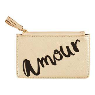 AIMEE MINI ZIP POUCH - GOLD