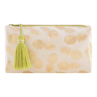 PINEAPPLE BOXY COSMETIC POUCH