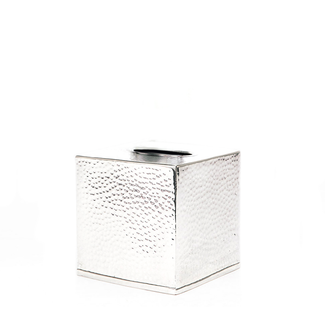 Hammered Metal Tissue Box