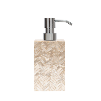 Pearlized Herringbone Capiz Soap Pump