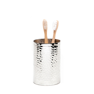 Hammered Metal Brush Holder
