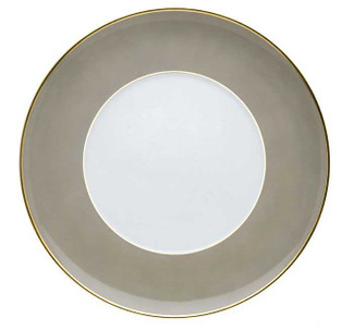 Rocco Grey and Gold Dinner Plate