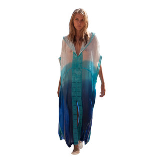 Ombre Hooded Kaftan