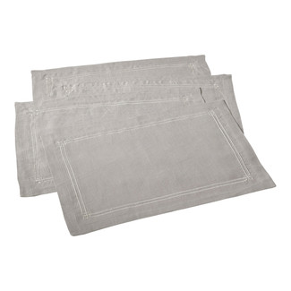 Grey Embroidered Design Placemats- Set of 4