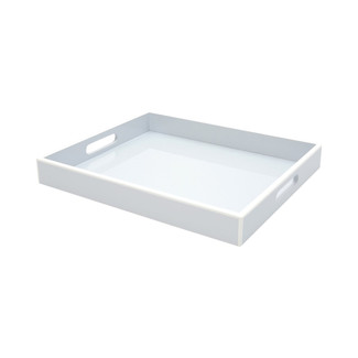 Elle Lacquer Serving Tray- Arctic Blue