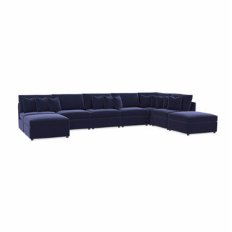 Beckham 8PC Premium Velvet U-Shaped Sectional