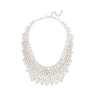 Metallic Spotted Bib Necklace