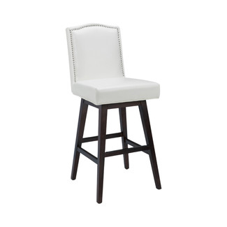 Maison Swivel Leather Barstool