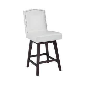 Maison Swivel Leather Counter Stool