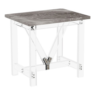 Lowell Italian Grey Side Table