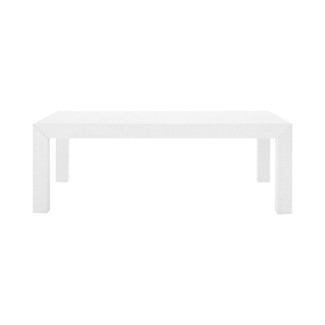 Parsons Lacquered Grasscloth Coffee Table