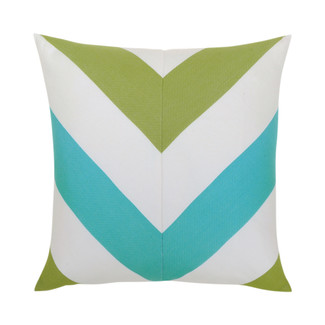 Poolside Chevron Accent Pillow