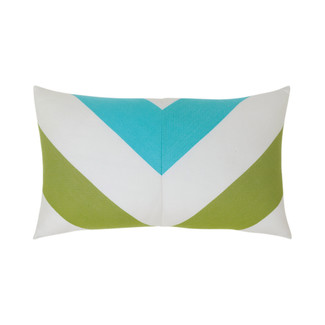 Poolside Chevron Lumbar Accent Pillow