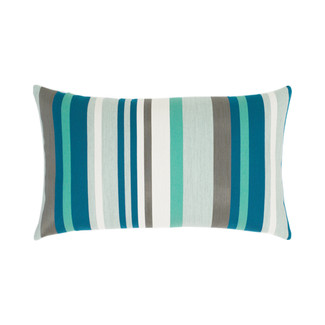 Lagoon Stripe Lumbar Accent Pillow