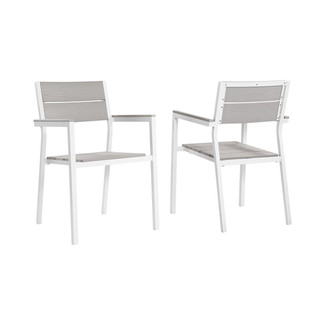 Maine Dining Armchair Outdoor Patio Chairs- Set of 2
