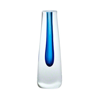 Square Cut Cobalt Glass Vase