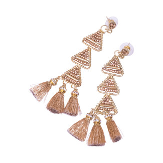 Pia Pyramid Tassel Earrings