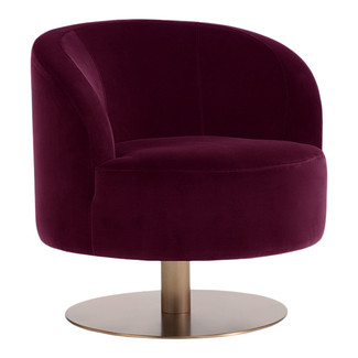 Peggy Swivel Club Chair - Cabernet